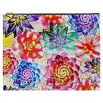Colorful Succulents Cosmetic Bag (XXXL)