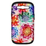 Colorful Succulents Samsung Galaxy S III Hardshell Case (PC+Silicone)