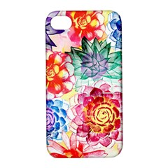 Colorful Succulents Apple Iphone 4/4s Hardshell Case With Stand by DanaeStudio