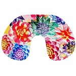 Colorful Succulents Travel Neck Pillows