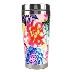 Colorful Succulents Stainless Steel Travel Tumblers by DanaeStudio