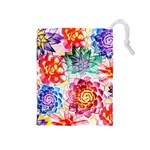 Colorful Succulents Drawstring Pouches (Medium)