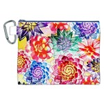 Colorful Succulents Canvas Cosmetic Bag (XXL)