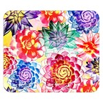 Colorful Succulents Double Sided Flano Blanket (Small)