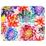 Colorful Succulents Double Sided Flano Blanket (Medium)