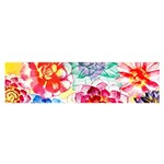 Colorful Succulents Satin Scarf (Oblong)