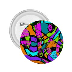 Abstract Sketch Art Squiggly Loops Multicolored 2 25  Buttons by EDDArt