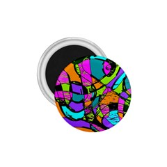 Abstract Sketch Art Squiggly Loops Multicolored 1 75  Magnets by EDDArt