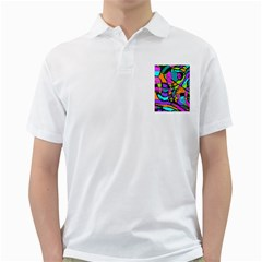 Abstract Sketch Art Squiggly Loops Multicolored Golf Shirts by EDDArt