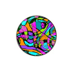 Abstract Sketch Art Squiggly Loops Multicolored Hat Clip Ball Marker (4 Pack) by EDDArt