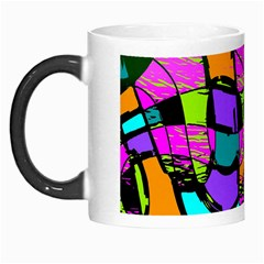 Abstract Sketch Art Squiggly Loops Multicolored Morph Mugs by EDDArt