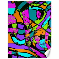 Abstract Sketch Art Squiggly Loops Multicolored Canvas 36  X 48   by EDDArt