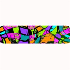 Abstract Sketch Art Squiggly Loops Multicolored Large Bar Mats by EDDArt