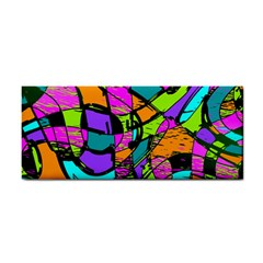 Abstract Sketch Art Squiggly Loops Multicolored Hand Towel by EDDArt