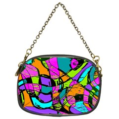 Abstract Sketch Art Squiggly Loops Multicolored Chain Purses (one Side)  by EDDArt
