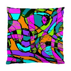 Abstract Sketch Art Squiggly Loops Multicolored Standard Cushion Case (one Side) by EDDArt