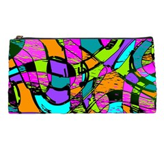Abstract Sketch Art Squiggly Loops Multicolored Pencil Cases by EDDArt