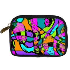 Abstract Sketch Art Squiggly Loops Multicolored Digital Camera Cases by EDDArt