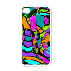 Abstract Sketch Art Squiggly Loops Multicolored Apple Iphone 4 Case (white) by EDDArt
