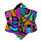 Abstract Sketch Art Squiggly Loops Multicolored Snowflake Ornament (2-Side)
