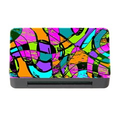 Abstract Sketch Art Squiggly Loops Multicolored Memory Card Reader With Cf by EDDArt