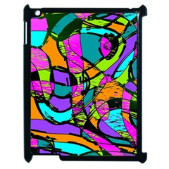 Abstract Sketch Art Squiggly Loops Multicolored Apple Ipad 2 Case (black) by EDDArt