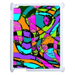 Abstract Sketch Art Squiggly Loops Multicolored Apple Ipad 2 Case (white) by EDDArt