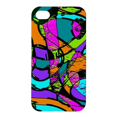 Abstract Sketch Art Squiggly Loops Multicolored Apple Iphone 4/4s Premium Hardshell Case by EDDArt