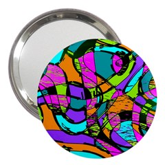 Abstract Sketch Art Squiggly Loops Multicolored 3  Handbag Mirrors by EDDArt