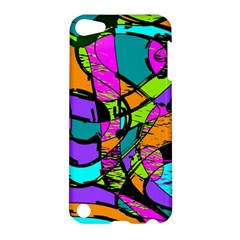Abstract Sketch Art Squiggly Loops Multicolored Apple Ipod Touch 5 Hardshell Case by EDDArt