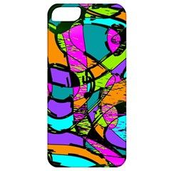 Abstract Sketch Art Squiggly Loops Multicolored Apple Iphone 5 Classic Hardshell Case by EDDArt