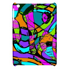 Abstract Sketch Art Squiggly Loops Multicolored Apple Ipad Mini Hardshell Case by EDDArt