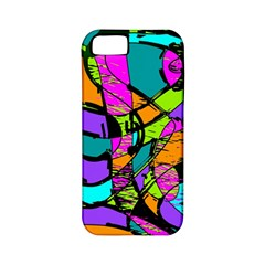 Abstract Sketch Art Squiggly Loops Multicolored Apple Iphone 5 Classic Hardshell Case (pc+silicone) by EDDArt