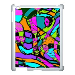 Abstract Sketch Art Squiggly Loops Multicolored Apple Ipad 3/4 Case (white) by EDDArt