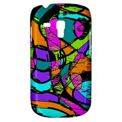 Abstract Sketch Art Squiggly Loops Multicolored Samsung Galaxy S3 Mini I8190 Hardshell Case by EDDArt
