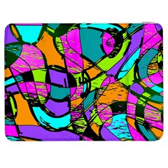 Abstract Sketch Art Squiggly Loops Multicolored Samsung Galaxy Tab 7  P1000 Flip Case by EDDArt