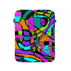 Abstract Sketch Art Squiggly Loops Multicolored Apple Ipad 2/3/4 Protective Soft Cases by EDDArt