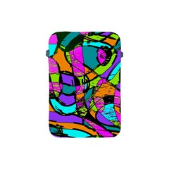 Abstract Sketch Art Squiggly Loops Multicolored Apple Ipad Mini Protective Soft Cases by EDDArt