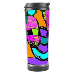 Abstract Sketch Art Squiggly Loops Multicolored Travel Tumbler by EDDArt