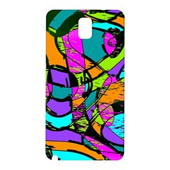Abstract Sketch Art Squiggly Loops Multicolored Samsung Galaxy Note 3 N9005 Hardshell Back Case by EDDArt
