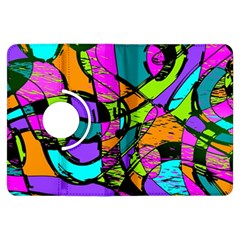 Abstract Sketch Art Squiggly Loops Multicolored Kindle Fire Hdx Flip 360 Case by EDDArt