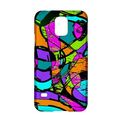 Abstract Sketch Art Squiggly Loops Multicolored Samsung Galaxy S5 Hardshell Case  by EDDArt
