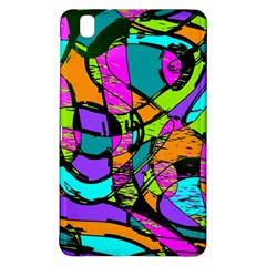 Abstract Sketch Art Squiggly Loops Multicolored Samsung Galaxy Tab Pro 8 4 Hardshell Case by EDDArt