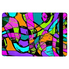 Abstract Sketch Art Squiggly Loops Multicolored Ipad Air Flip by EDDArt