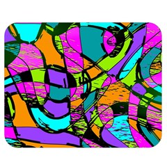 Abstract Sketch Art Squiggly Loops Multicolored Double Sided Flano Blanket (medium)  by EDDArt