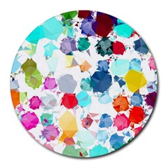 Colorful Diamonds Dream Round Mousepads by DanaeStudio
