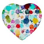 Colorful Diamonds Dream Ornament (Heart)