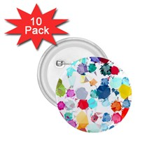 Colorful Diamonds Dream 1 75  Buttons (10 Pack) by DanaeStudio