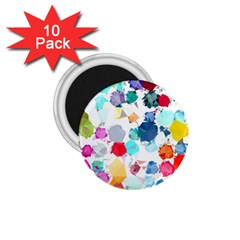 Colorful Diamonds Dream 1 75  Magnets (10 Pack)  by DanaeStudio