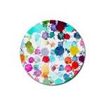 Colorful Diamonds Dream Rubber Coaster (Round)
